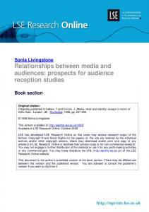 Relationships between media and audiences - Core