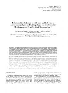 Relationships between otolith size and fish size in ... - Scientia Marina