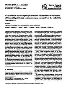Relationships between precipitation and floods in the fluvial basins of ...