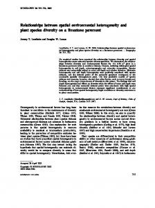 Relationships between spatial environmental ... - Wiley Online Library