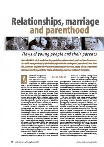 Relationships, marriage and parenthood