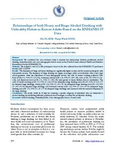 Relationships of both Heavy and Binge Alcohol Drinking with ...