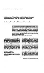 Relationships of Dissociation and Childhood ... - Semantic Scholar