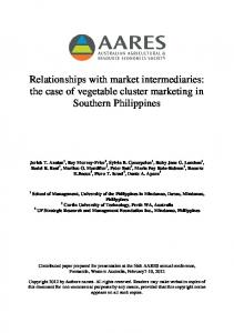Relationships with market intermediaries: the case of ... - AgEcon Search