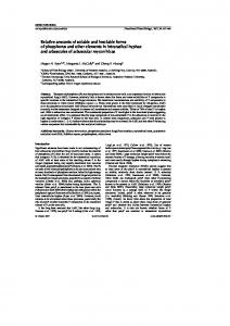 Relative amounts of soluble and insoluble forms ... - CSIRO Publishing
