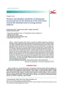 Relative and absolute reliability of ultrasound ... - Semantic Scholar