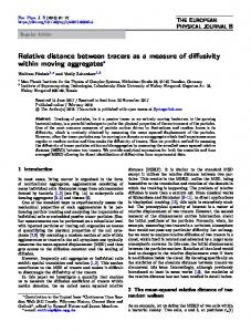 Relative distance between tracers as a measure of ... - Springer Link