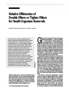 Relative Efficiencies of Double Filters or Tighter Filters ...