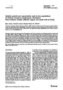 Relative growth and reproductive cycle in two ...