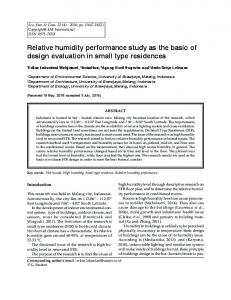 Relative humidity performance study as the basic of