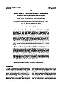 Relative Lability of Trace Metals Complexed in