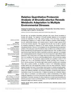 Relative Quantitative Proteomic Analysis of