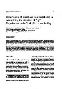 Relative role of visual and non-visual cues in determining the direction