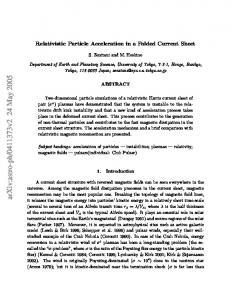 Relativistic Particle Acceleration in a Folded Current Sheet