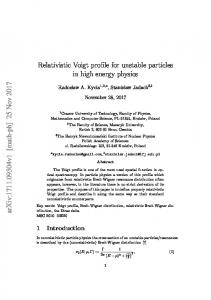 Relativistic Voigt profile for unstable particles in high energy physics