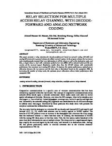 relay selection for multiple access relay channel with decode - arXiv