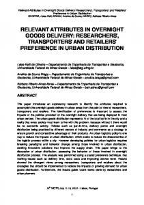 relevant attributes in overnight goods delivery: researchers ... - CLUB