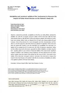 Reliability and construct validity of the Instrument ... - Semantic Scholar