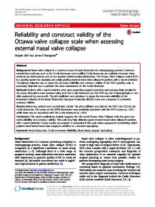 Reliability and construct validity of the Ottawa ... - McMaster Surgery