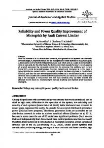 Reliability and Power Quality Improvement of ...