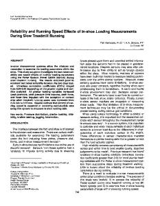 Reliability and Running Speed Effects of In-shoe ...