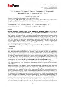 Reliability and Validity of - Eric