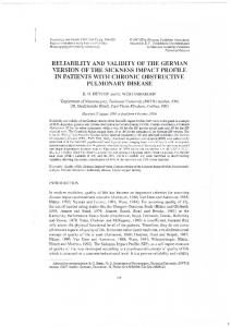 reliability and validity of the german version of the ...