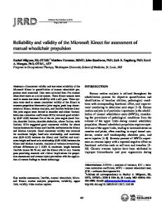 Reliability and validity of the Microsoft Kinect for