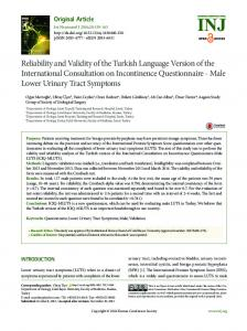 Reliability and Validity of the Turkish Language ... - Semantic Scholar