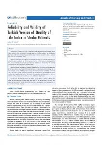 Reliability and Validity of Turkish Version of Quality ... - Semantic Scholar