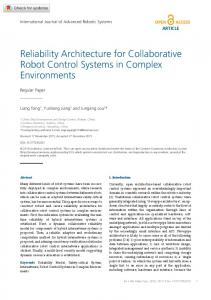 Reliability Architecture for Collaborative Robot ... - SAGE Journals