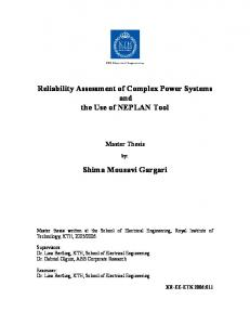 Reliability Assessment of Complex Power Systems ...