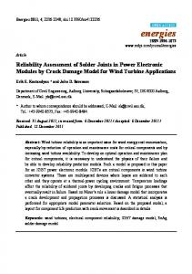 Reliability Assessment of Solder Joints in Power Electronic ... - MDPI