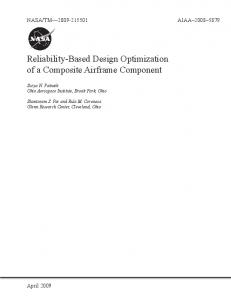 Reliability-Based Design Optimization of a Composite Airframe ...