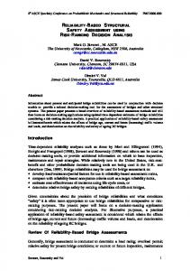 Reliability-Based Structural Safety Assessment Using ...