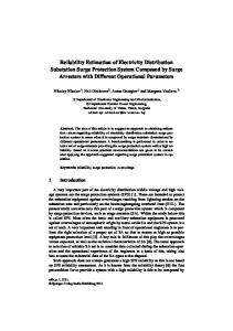 Reliability Estimation of Electricity Distribution ...