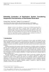 Reliability Evaluation of Distribution System Considering Sequential ...