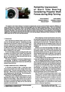 Reliability Improvement of Stern Tube Bearing Considering ...