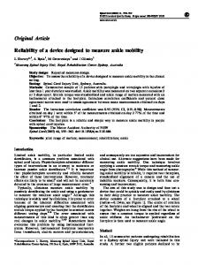 Reliability of a device designed to measure ankle mobility