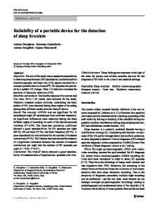 Reliability of a portable device for the detection of ...