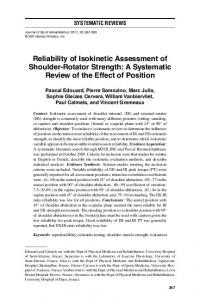 Reliability of Isokinetic Assessment of Shoulder ... - Semantic Scholar