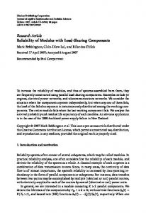 Reliability of Modules with Load-Sharing Components