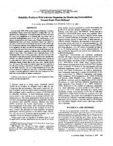 Reliability Problems With Indicator Organisms for Monitoring ...