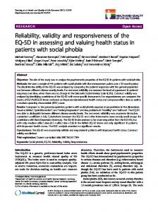Reliability, validity and responsiveness of the EQ ... - Semantic Scholar