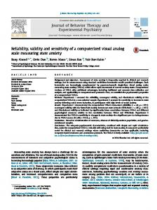 Reliability, validity and sensitivity of a ... - Semantic Scholar