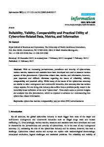 Reliability, Validity, Comparability and Practical ... - Semantic Scholar