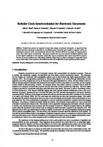 Reliable Clock Synchronization for Electronic ...