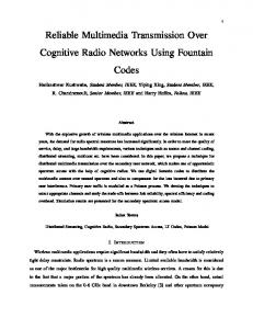 Reliable Multimedia Transmission Over Cognitive Radio Networks ...