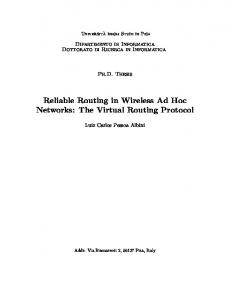 Reliable Routing in Wireless Ad Hoc Networks: The