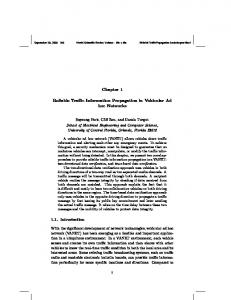 Reliable Traffic Information Propagation in Vehicular Ad hoc ... - UCF CS